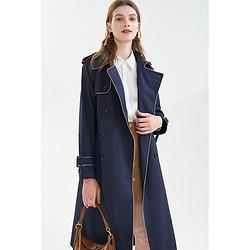 影儿诗篇女装2021春季新款双排扣设计可调节袖口风衣外套    577元