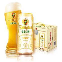 青岛啤酒(TsingTao)全麦白啤11度500ml*12听大罐整箱装贵族啤酒商务宴请古法精酿73.15元