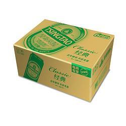 TSINGTAO青岛啤酒青岛啤酒(Tsingtao)经典10度500ml*24听大罐整箱装口感醇厚(新老包装随机发放) 99