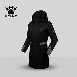 KELME卡尔美运动棉衣女式防风保暖商务大衣长款连帽棉服212.67元