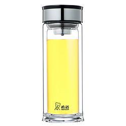 希诺玻璃杯双层商务带过滤网XN-6900/01/02/03枪灰色395ML195.46元(需买3件,共586.38元,需用券)