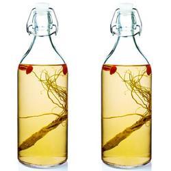 喜碧(Scybe)温顿多功能加厚玻璃密封储藏瓶泡酒瓶酱醋瓶1100ml2只装25.52元(需买3件,共76.56元)