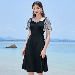 3COLOUR三彩D024015L20女士复古方领连衣裙 72元(需买2件,共144元)