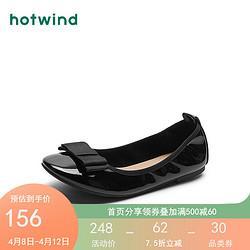 热风浅口单鞋女2021年春季新款女士时尚平底休闲单鞋01黑色38正码