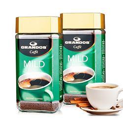 GRANDOS格兰特醇雅柔和速溶纯黑咖啡100g*2瓶装 29.9元包邮