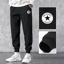 男士潮流个性时尚设计潮牌卫裤束脚运动裤 58元
