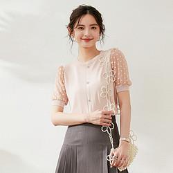 21夏新款甜美可爱圆领舒适短袖T恤针织衫女    143.1元(需买2件,共286.2元)