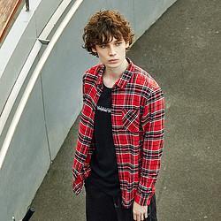 森马春季新款都市质感长袖衬衫日常时尚通勤复古经典格纹衬衣男 36元(需用券)