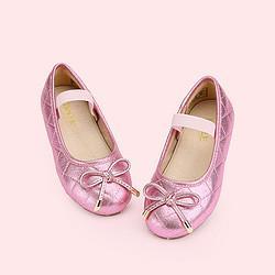百丽童鞋女春夏季皮鞋蝴蝶结舒适松紧带时装鞋(26-37)    79元