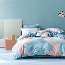 百丽丝家纺水星出品全棉印花三/四件套纯棉简约小清新床单被套件    135.2元(需用券)
