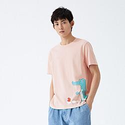 森马新款夏季萌趣印花上衣舒适纯棉体恤衫学生男士短袖T恤男 36元(需用券)