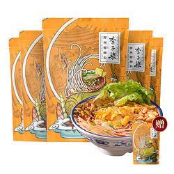 李子柒柳州螺蛳粉广西特产螺丝粉速食方便面米线螺狮粉5袋装 54元