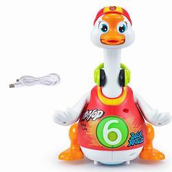 HuileTOY'SD828C红色儿童早教益智玩具男女孩摇摆鹅充电版婴儿学爬玩具宝宝唱歌跳舞68.88元