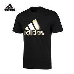 adidas阿迪达斯(adidas)男士运动型格金标圆领短袖运动T恤FN1735 129元