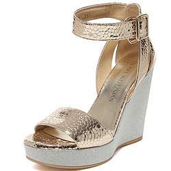 STUARTWEITZMAN斯图尔特・韦茨曼女士金色银色羊皮时尚坡跟凉鞋M0STLYBRIGHTGOLDSHAITTERN35.5NN 1349.5元(需用券)
