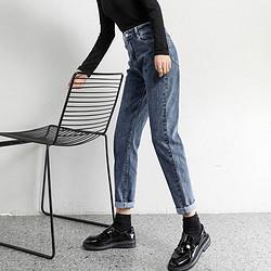 LeeCooper春秋新款直筒显瘦老爹萝卜裤时尚百搭女裤显腿长牛仔裤女79元