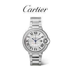 Cartier卡地亚Cartier卡地亚官方正品蓝气球女钻石精钢机械腕表W4BB001683000元