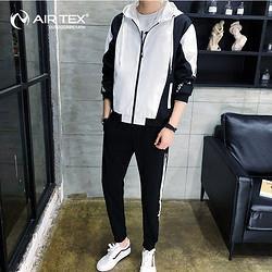 AIRTEX亚特英国亚特男士运动套装秋冬跑步休闲长裤长袖帅气潮流百搭两件套159元