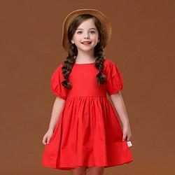 I.K印象童年印象童年童装女童连衣裙2020新款夏装儿童纯棉红色小女孩超洋气公主裙潮39元(需用券)