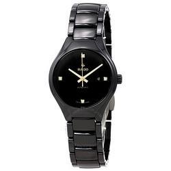 RADO雷达表瑞士手表真系列高科技陶瓷表带女士机械钻表R27242712$1239.5(约8045元)