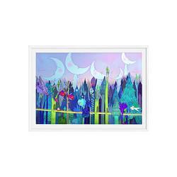 艺术品:维格列艺术姚文爽原作版画《午夜的森林隧道》现代简约挂画空间装饰