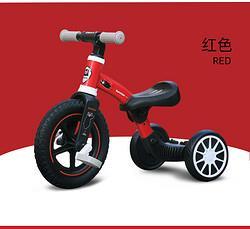 日本熊本熊网红儿童三轮车1-3-4岁宝宝滑行车红色(适用身高78-105厘米)