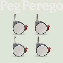Peg-Pérego帕利高pegperego帕利高婴儿餐椅多功能宝宝椅zero3专用带锁定辅助轮4个白色(4个装)
