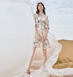 DUIBAI对白敦煌系列ADQ117X女士中长款连衣裙 177元(需用券)