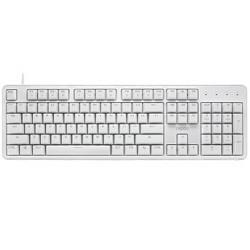 RAPOO雷柏MT710104键有线机械键盘白色国产红轴单光169元