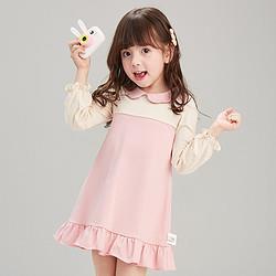 Deesha笛莎笛莎婴幼女童T恤连衣裙21春新款儿童宝宝洋气A字公主裙46