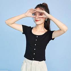 Puella2A03043MX101女式纯色T恤 32元