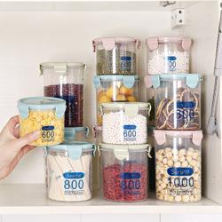 莱朗透明塑料密封罐3件套600+800+1000ml9.4