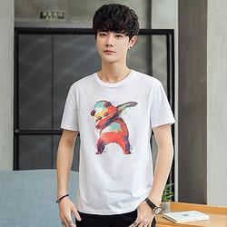 JEANSWEST真维斯夏男上装动物图案圆领帅气男士t恤短袖37