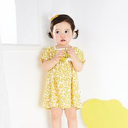 balabala巴拉巴拉巴拉巴拉宝宝裙子婴儿碎花裙儿童连衣裙女童公主裙2021新款萌68.9