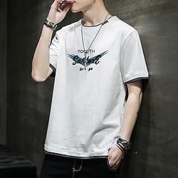 REDDRAGONFLY红蜻蜓夏季新款男士T恤透气时尚短袖百搭清爽运动T恤男74