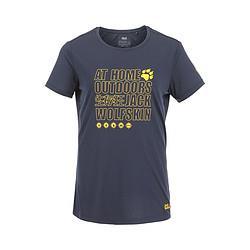 JackWolfskin狼爪透气舒爽女款轻柔时尚印字短袖T恤 83