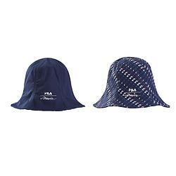 FILA斐乐斐乐情侣款圆帽时尚休闲百搭运动两面满印圆帽男女通用防晒渔夫帽 178