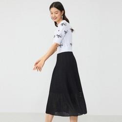 YINER音儿蝴蝶系列女士针织拼接连衣裙 887