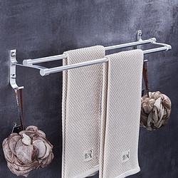youqin优勤浴室置物架毛巾架双杆60cm 12.8