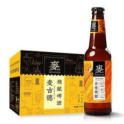 有券的上:MANGOLDER麦古德原麦精酿啤酒330毫升*12瓶 35.5