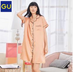 GU极优321539女装缎纹睡裙    79