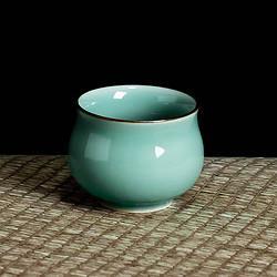 xigu熹谷龙泉青瓷粉青鼓形杯陶瓷茶杯 9.2