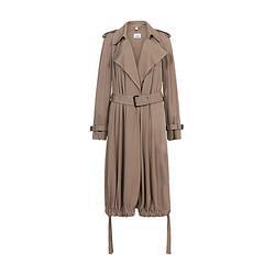 BURBERRY博柏利博柏利BURBERRY女款粘胶纤维平织围裹式大衣暖灰褐色8017242108码    7220