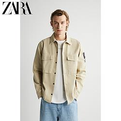ZARA夏季新款男装补丁饰工装风衬衫式夹克外套03562480707299元