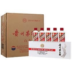 MOUTAI茅台贵州茅台酒53度飞天茅台50mL盒装小酒礼盒酱香型白酒50mL*5瓶*12盒白色条盒整箱装22176元