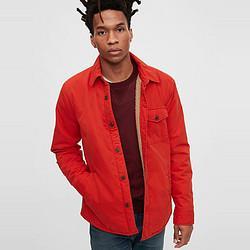 Gap盖璞Gap男装仿羊羔绒衬衫外套603985春新款工装夹克159元