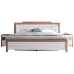 QuanU全友122302现代极简欧式卧室床+床头柜1.5m810元