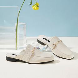 Teenmix天美意天美意商场同款简约气质穆勒拖鞋羊皮革懒人拖鞋女凉鞋女夏外穿278元