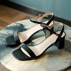 DAPHNE达芙妮2021新品凉鞋女夏一字带中跟休闲外穿时尚学生仙女风凉拖鞋168.99元