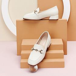 Teenmix天美意天美意女单鞋女商场同款复古女鞋方头乐福鞋粗跟女单鞋520礼物 287元